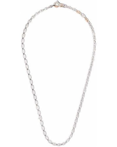 Серебряная цепочка из золота с бриллиантом Zancan