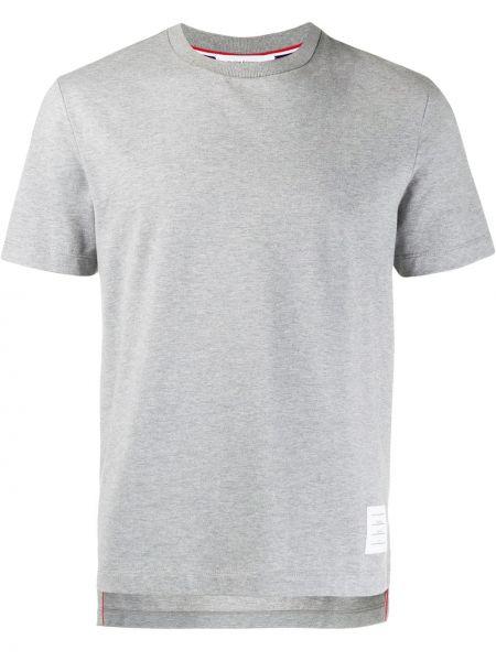 Koszula krótkie z krótkim rękawem klasyczna z nadrukiem Thom Browne