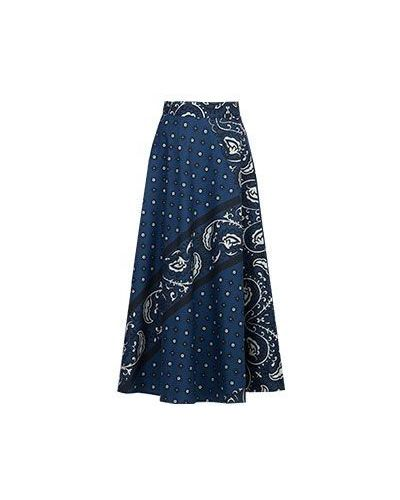 Синяя юбка макси Valentino Red