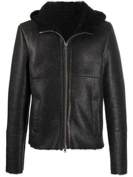Классическая прямая черная куртка с капюшоном на молнии S.w.o.r.d 6.6.44