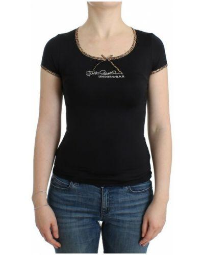 Czarna t-shirt Roberto Cavalli