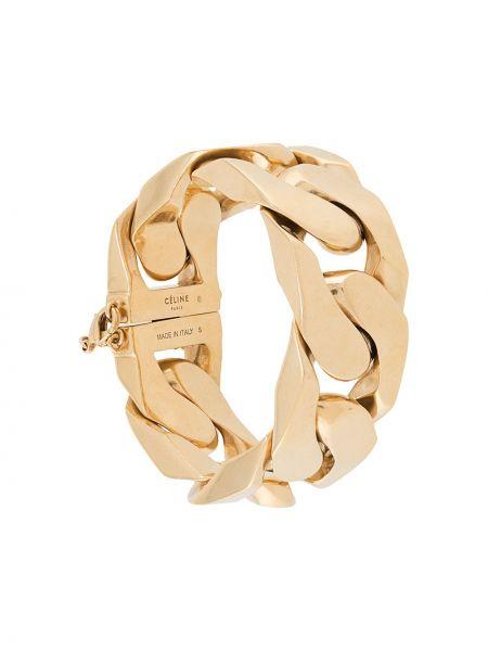 Золотистый желтый браслет позолоченный Céline Pre-owned