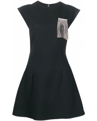 Расклешенное шелковое платье мини на молнии с вырезом Christopher Kane