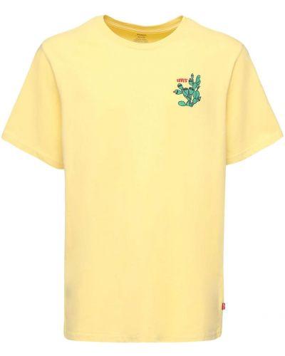 Żółty t-shirt bawełniany Levi's Red Tab