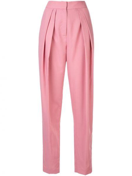 Розовые брюки со складками Bianca Spender