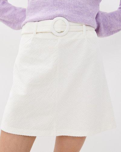 Белая юбка свободного кроя B.young