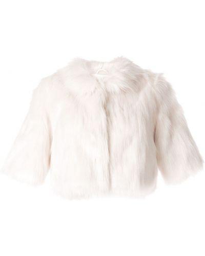 Biała szal krótki rękaw Unreal Fur