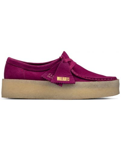 Loafers - fioletowe Clarks