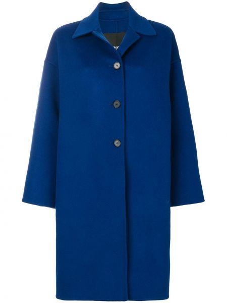 Синее шерстяное пальто с капюшоном Calvin Klein 205w39nyc