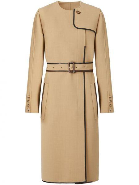Кожаное платье макси с поясом на молнии Burberry