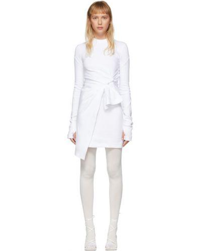 Платье макси с запахом с вышивкой Off-white