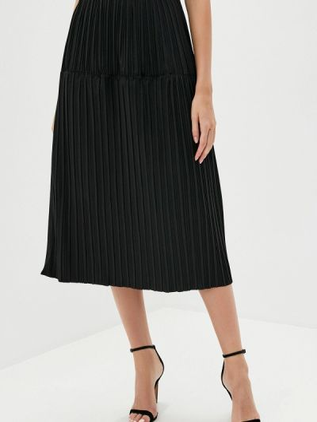 Плиссированная черная плиссированная юбка B.style