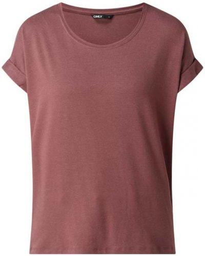 Różowa t-shirt krótki rękaw z wiskozy Only