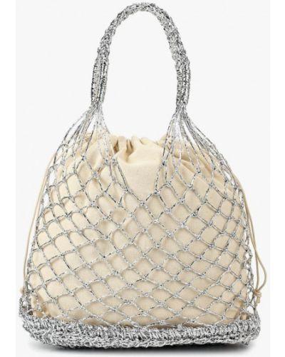 Пляжная сумка серебряного цвета Topshop