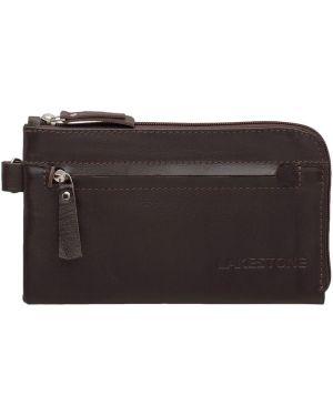 Кожаный клатч - коричневый Lakestone