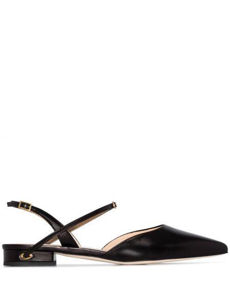 Однобортные черные туфли-лодочки Jennifer Chamandi