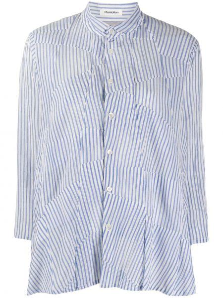 Рубашка в полоску - синяя Zucca