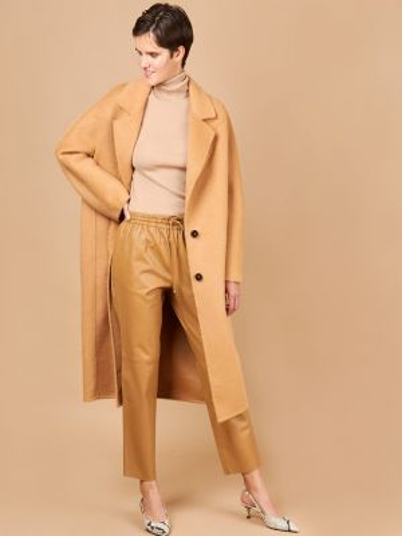 Пальто из альпаки шерстяное 12storeez