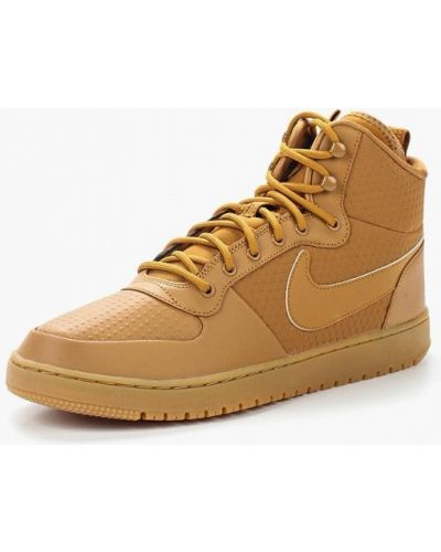 Коричневые высокие кеды Nike