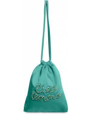 Satynowa zielona torebka Giada Benincasa