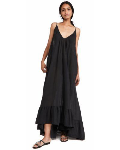 Платье макси - черное 9seed