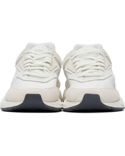 Замшевые кроссовки - белые Diesel