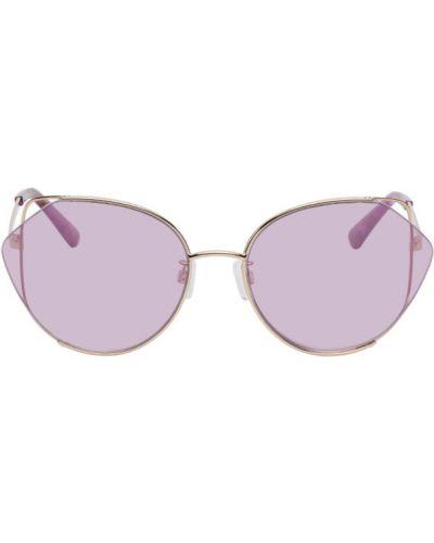 Черные солнцезащитные очки круглые прозрачные Mcq
