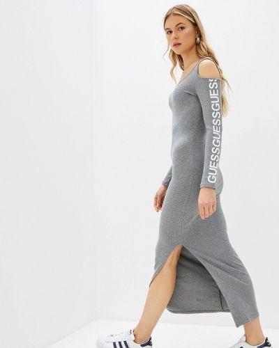 Джинсовое платье серое прямое Guess Jeans