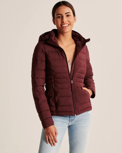Куртка на молнии - красная Abercrombie & Fitch