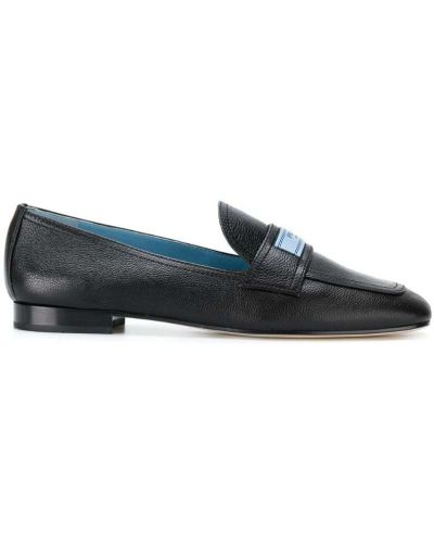 Лоферы на каблуке кожаные Prada