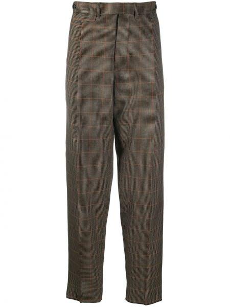 Beżowe spodnie bawełniane Rochas
