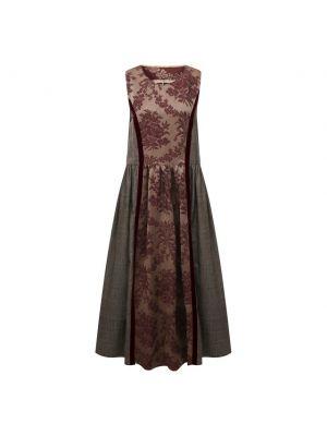 Бордовое шелковое платье Uma Wang