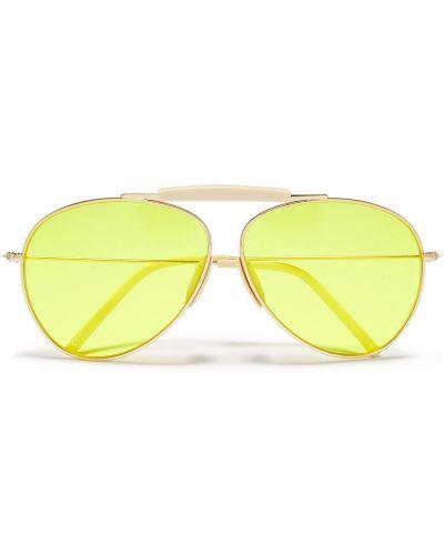 Złote okulary Acne Studios