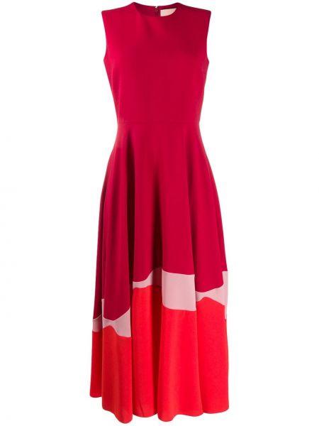 Платье миди шелковое приталенное Roksanda