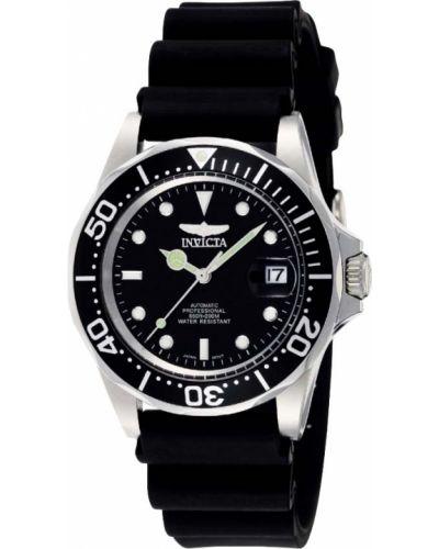 Черные со стрелками часы механические Invicta