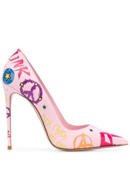 Кожаные розовые туфли-лодочки Le Silla