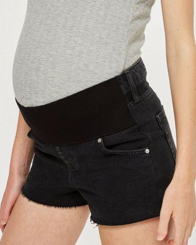 Черные джинсовые шорты Topshop Maternity