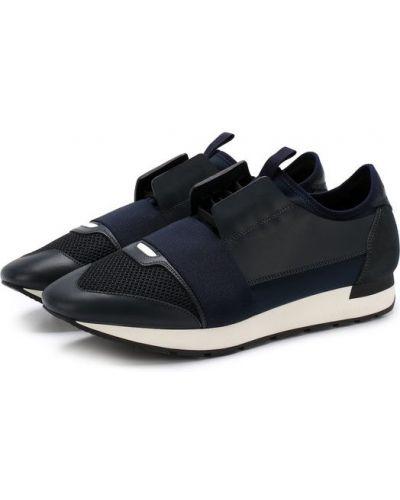 Кроссовки на шнуровке замшевые Balenciaga