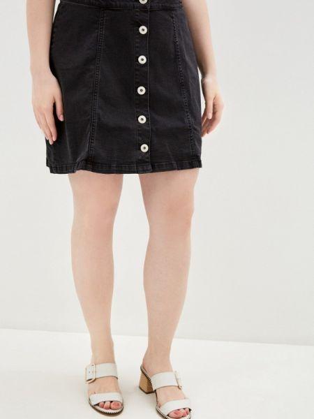 Джинсовая юбка весенняя черная Studio Untold