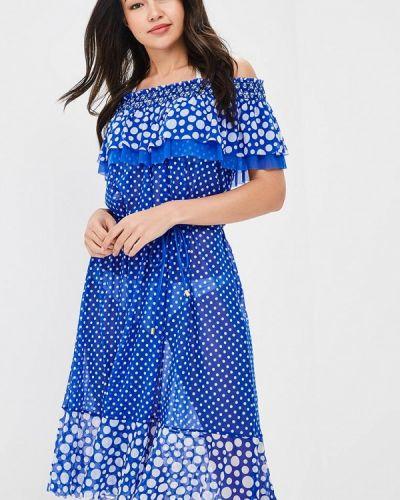 Синее пляжное платье Charmante