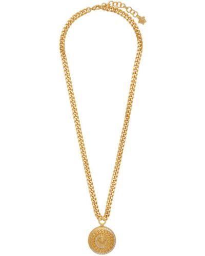 Ожерелье золотое для полных Versace