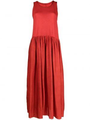 Красное платье без рукавов с вырезом Uma Wang