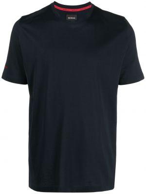 Niebieski t-shirt bawełniany krótki rękaw Kiton
