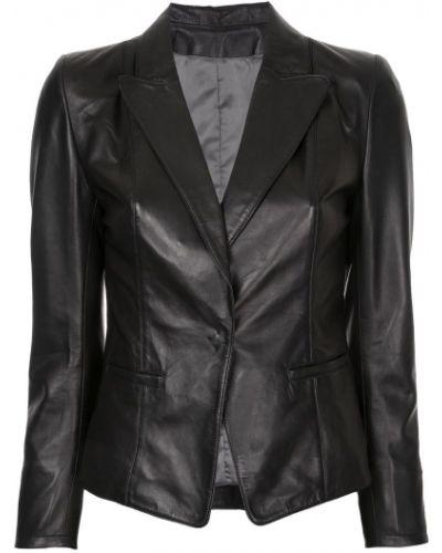 Кожаный пиджак - черный Sylvie Schimmel
