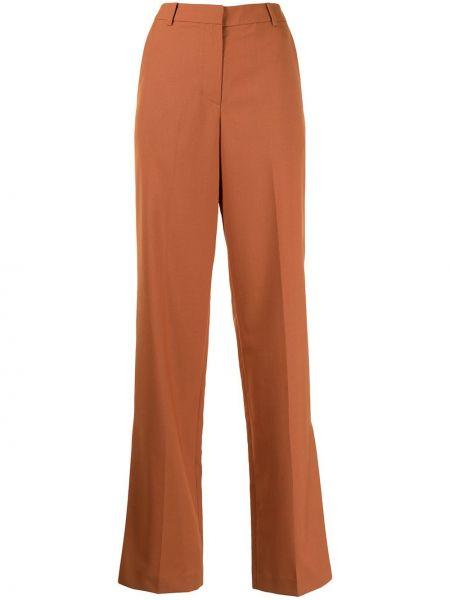 Pomarańczowe spodnie z paskiem wełniane Pushbutton