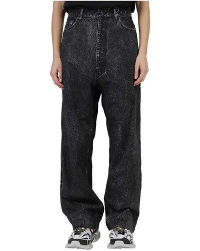 Szare spodnie bawełniane z printem Balenciaga