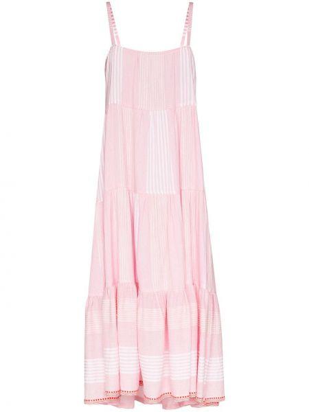 Платье миди розовое макси Lemlem