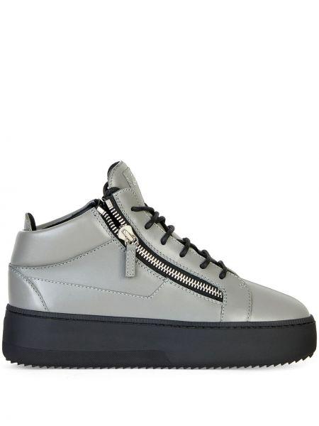Koronkowa skórzany sneakersy na sznurowadłach Giuseppe Zanotti