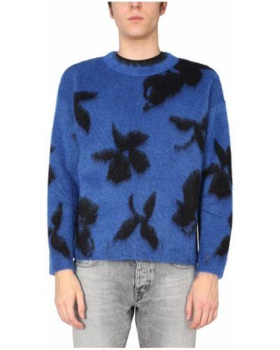 Prążkowany sweter wełniany oversize Saint Laurent