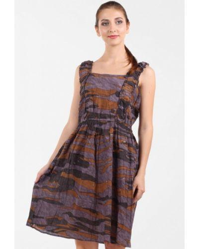 Повседневное платье осеннее фиолетовый Panove